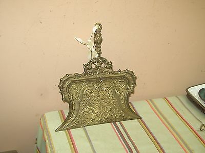 Antique Vintage Ornate Art Nouveau Cast Iron Crumb Tray