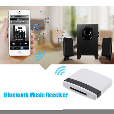 Bluetooth A2DP 30Pin Music Receiver Audio Adapter Dock for iPad iPod iPhone