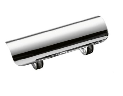 "Chrome Motorcycle Exhaust Heat Shield Cover for 1.75"" Pipes, 7"" Long"