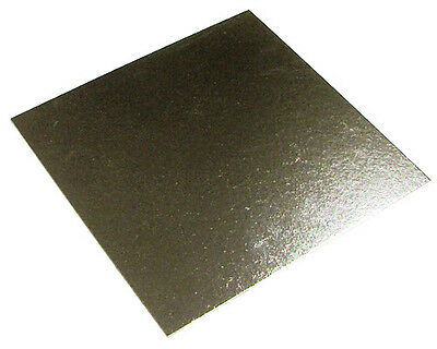 "100 x 6"" Inch Square Silver Cake Board 3mm DOUBLE THICK"