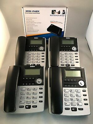Home Small Office PBX 308 Telephone System with 4 x Uniden extension phones-NEW