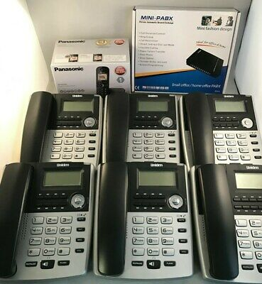 HOME SMALL OFFICE PBX 308 TELEPHONE SYSTEM AND 6 X BT Phones 1X Dect Cordless