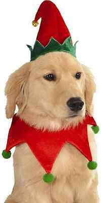 Elf Set Hat Collar Santa's Helper Cute Christmas Pet Dog Cat Costume Accessory