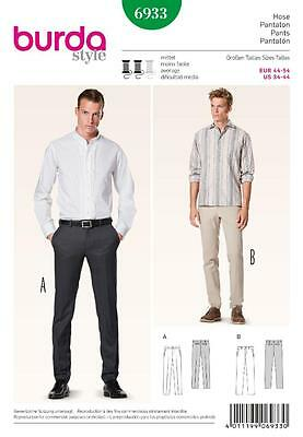 BURDA YOUNG SEWING PATTERN hipster men's trousers CHINOS 34 - 44 6933