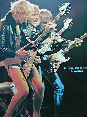 Michael Schenker & Scorpions - Magazine Cutting (Full Page Photo) (Ref F)