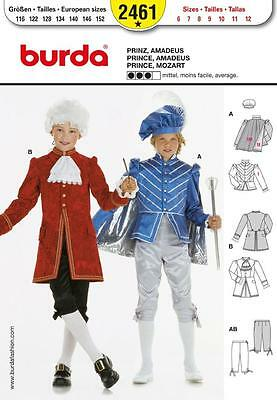 BURDA SEWING PATTERN CHILDRENS FANCY DRESS Prince & Mozart SIZE 6 - 12 2461