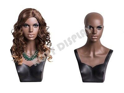 Female Mannequin Head Bust Wig Hat Jewelry Display #MZ-S2