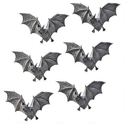 Set of 6: Vampire Bats  Sculpture Scary Blood Sucking Creatures Wall Plaque