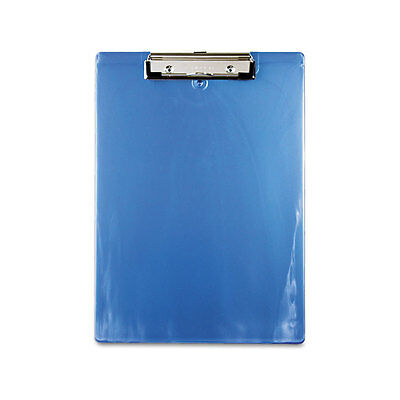 "Saunders Plastic Clipboard 1"" Capac. 8-1/2x12 Ice Blue"
