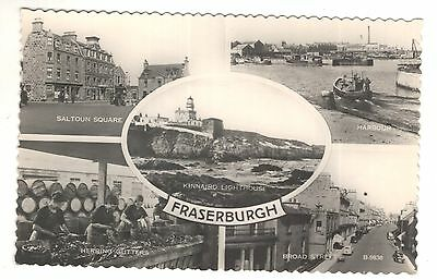 scotland scottish postcard frasesburg multiview herring gutters
