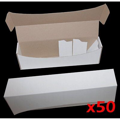 WHITE CARD STORAGE BOX x50 - Holds upto 1000 Cards ideal for MTG POKEMON YUGIOH