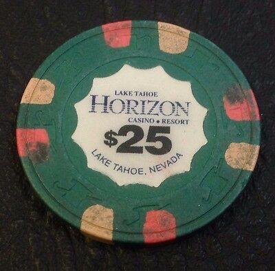 Horizon $25 Casino Chip Lake Tahoe Nevada H & C Mold 1990 Free Shipping