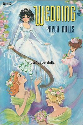 Vintage 1964 Wedding Paper Dolls ~Gorgeous Hd Laser Reproduction~Orig Size Uncut