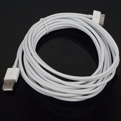 1M 2M 3M 5M Cavetto Cavo Dati Usb Per Iphone 4 4S 3Gs Ipod Touch Ipad Bianco