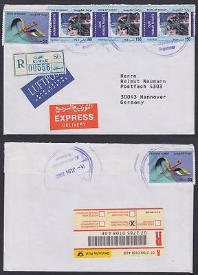 2002 Kuwait R-Cover to Germany, Menschenrechte Human Rights [ca691]