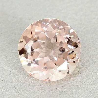 4,16 Ct. Fabelhafter Pink Morganit Unbehand. inkl. Zertifikat Round Facet