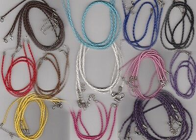 Necklace Cord Braided Leather 3mm  **Free postage for multiple purchases**