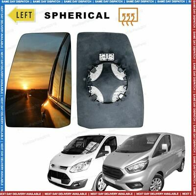 Left Passenger side Convex Wing mirror glass for Ford Transit Custom 12+ Heated