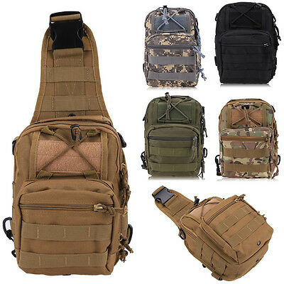 Molle Tactical Sling Chest Bag Assault Pack Messenger Shoulder Bag Backpack New