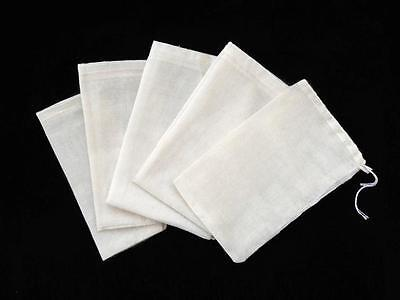 100 Pack 3x4 Cotton Muslin Drawstring Reusable Bags Packing Bath Soap Herbs Tea