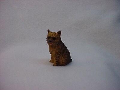 NORWICH TERRIER dog TiNY FIGURINE puppy HAND PAINTED MINIATURE mini statue NEW