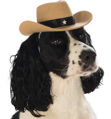 Cowboy Hat Western Sheriff Cute Halloween Pet Dog Cat Costume Accessory 4 COLORS