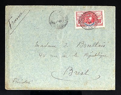 3732-SENEGAL-NIGER-OLD COVER BAMAKO to BREST (france)1914.WWI.French colonies