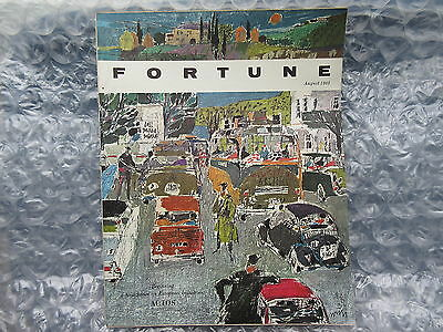 Old August 1963 Fortune Magazine Hugo Wetli Painting Cover
