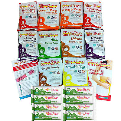 Slim And Save - 70 Mixed VLCD Diet Meals, Shakes, Soups & Bars + Delivery -70MIX