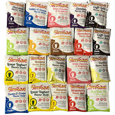 Slim And Save - 84 Mixed VLCD Meal Replacement Diet Shakes - Free Delivery 84SHK
