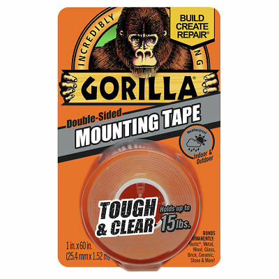 Gorilla Tape Indoor Outdoor Mounting Double Sided Clear 10# Weatherproof 6065003