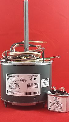 D7909 Fasco 1075 RPM AC Air Conditioner Condenser Fan Motor 1/4 HP + Capacitor