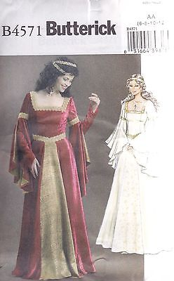 Butterick Sewing Pattern Misses' Costume Fitted flared Dress SIZE 6 - 20 B4571