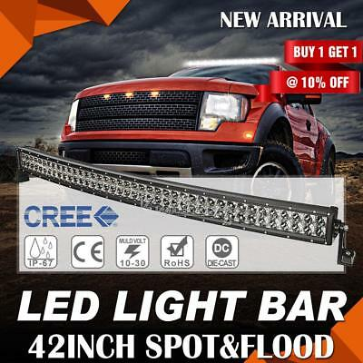 560W 42Inch Curved Osram Roof LED Work Light Bar Flood Spot Combo Offroad Lamp