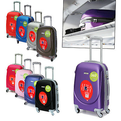 "20"" Abs Lightweight Travel Carry On Bag Luggage 4 Wheeled Trolley Cabin Case"
