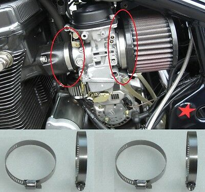 8 STAINLESS Carburettor Clamps GSF1200 Bandit Air Filter (Tridon Zero) 8mm GSXR