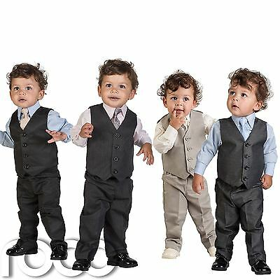 Boys Grey Suit, Boys Black Suit, Boys Beige Page Boy Suits, Boys Pinstripe Suit