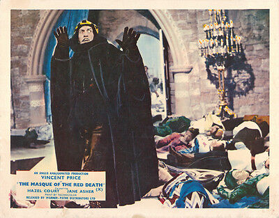 The Masque Of Red Death Original Lobby Card Vincent Price 1964