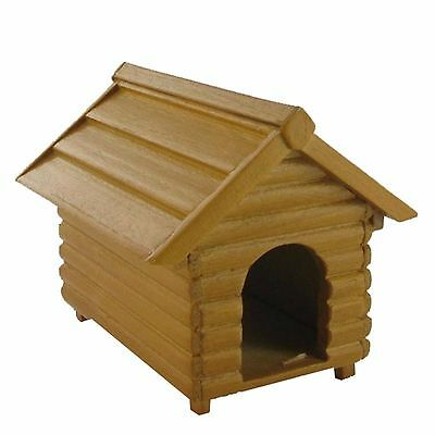 DOLLS HOUSE 1/12th  SCALE QUALITY WOODEN DOG KENNEL