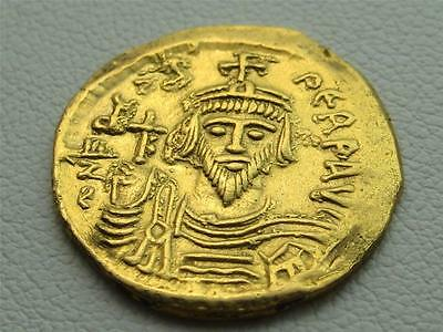 Focas . 602-610 Ancient Roman Gold Solidus coin . Phocas Byzantine Nice!