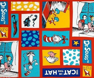 NEW DR SUESS CAT IN THE HAT THING 1 CHILDRENS BOOKS COMPLETE 15X15 THROW PILLOW