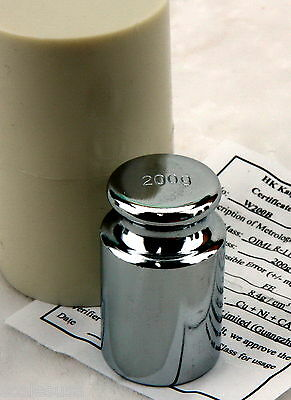 200 Gram M1 Chrome Scale Calibration Weight with Case