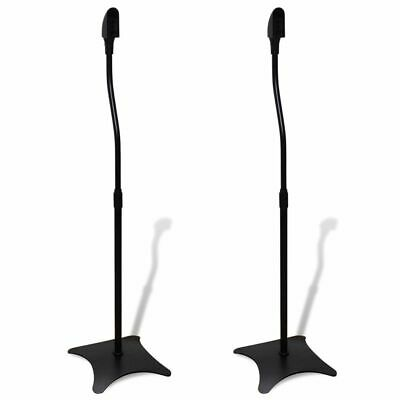 B#High Quality Universal Sound Floor Speaker Stand Rack Black 2 pcs