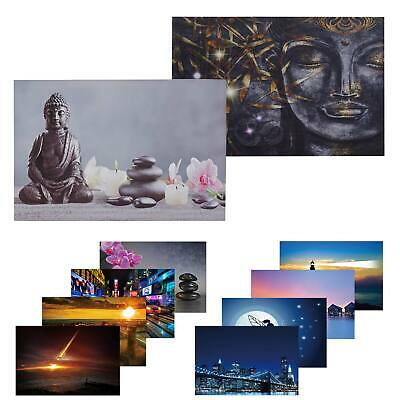 buddha 3 led licht bild wandbild 3 kerze feng shui asia orchidee 40 x 30 cm neu eur 13 85. Black Bedroom Furniture Sets. Home Design Ideas