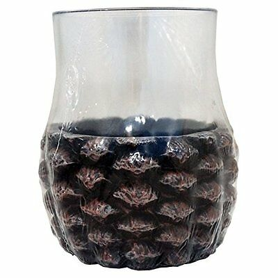 Wild Lodge Plastic and Resin Pinecone Tumbler (Bath Set Accesory)