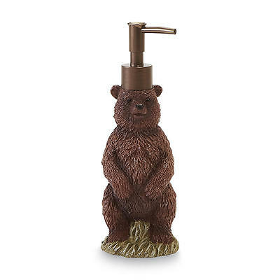 Wild Lodge Bear Soap Lotion Dispenser Bath Accessory