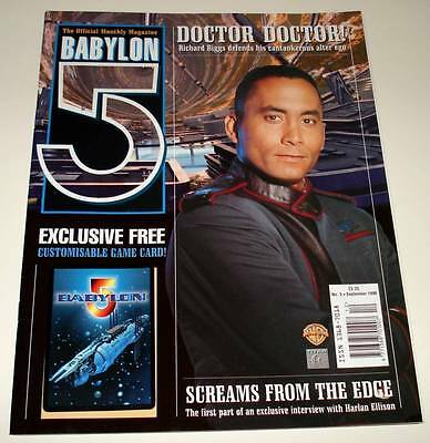 BABYLON 5 Official Monthly MAGAZINE  (2nd Series) # 3   Sept 1998  VFN/NM + Gift