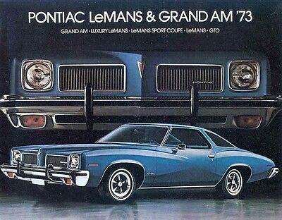 1973 Pontiac Grand Am GTO LeMans Brochure Canada my5019