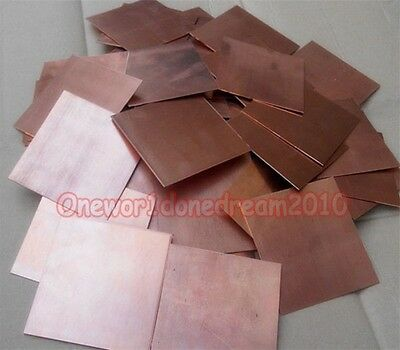 5x Pure Copper Metal Sheets Cathode Plates for Hull Cell 0.25mm x 100mm x 65mm