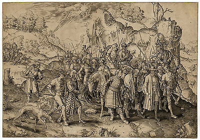 Antique Print-SAINT PAUL-DAMASCUS-SAUL TARSUS-BLIND-PROCESSION-Van Leyden-1580